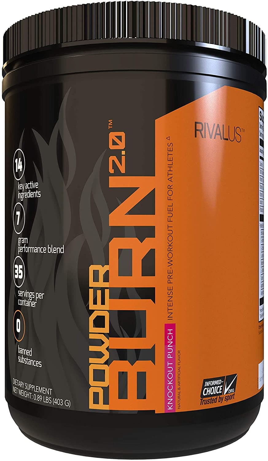 RIVALUS Powder Burn 2.0 Punch 35 Serving